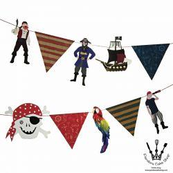 海盜派對橫拉掛旗