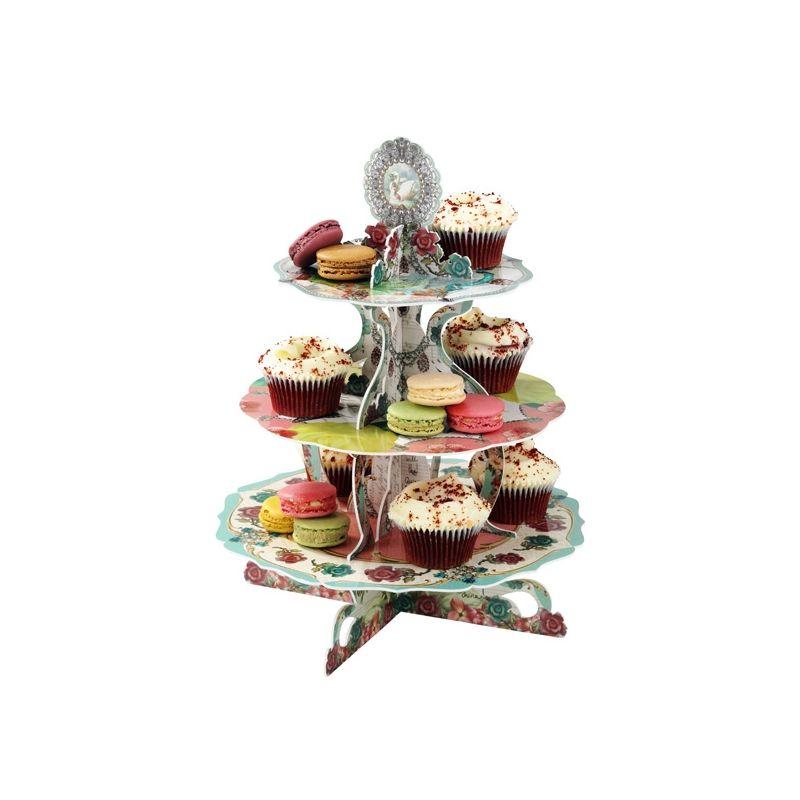 天鵝3層茶杯蛋糕座 Pandora Cake Shop