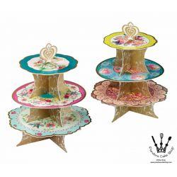 皇冠花紋茶杯蛋糕座