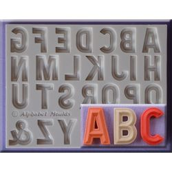 Bevelled Font - Alphabet Moulds