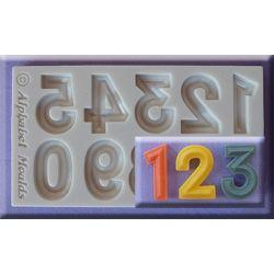 Bevelled Font Numbers- Alphabet Moulds