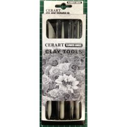 Cerart 4 PC Set Flower Modeling Tools