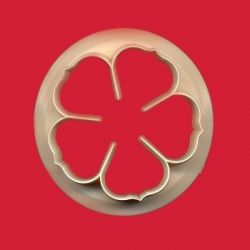 5 Petal Rose Cutter - 40mm - FMM