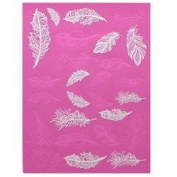 Feathers 3D Large Cake Lace Mat