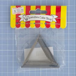 21 Triangle Cookie Cutter - Pandora Cake Shop