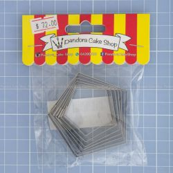 19 Pentagon Cookie Cutter - Pandora Cake Shop