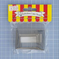 08 Rectangle Cookie Cutter - Pandora Cake Shop