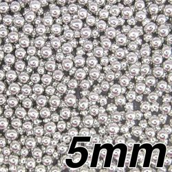 5mm Silver - edible pearls 100g- Pandora Cake Shop