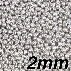 2mm Silver - edible pearls 100g- Pandora Cake Shop