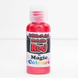 Magic Colours Edible Metallic Red 32g - Color gel