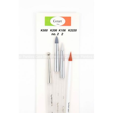 Cerart Brushes Set for Modelling Mary Torte 4 pcs