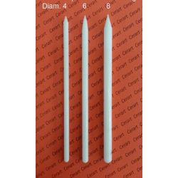 Rolling pins for mini flower and Modelling. Kit 3 pcs. Diam. 4 - 6 - 8 - Cerart