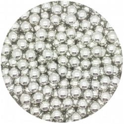 Silver 6mm Edible Pearls Dragees - 100g