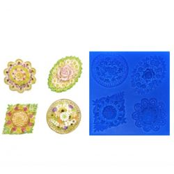 Assorted Flower Medallions -FIRST IMPRESSION MOULDS