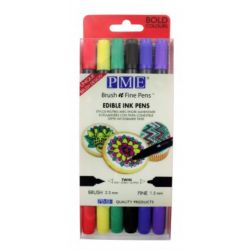 BRUSH N FINE PEN™ WALLET OF 6 – BOLD COLOURS