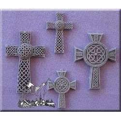 Celtic Crosses (Set of 4) - Alphabet Moulds