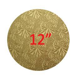 """金色蛋糕板 - 12"""" 木底 (4mm Thick)"""