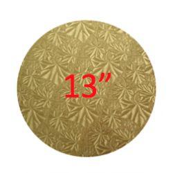 """金色蛋糕板 - 13"""" 木底 (4mm Thick)"""