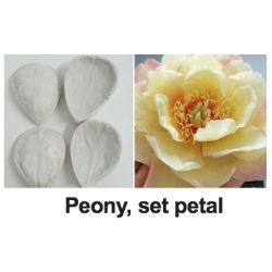 Flower Mould-Peony, set petal
