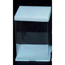 藍色透明蛋糕盒1號(闊9.5寸 x 高12寸)