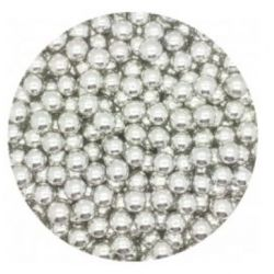 SILVER 7MM EDIBLE PEARLS DRAGEES - 120G