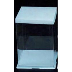 藍色透明蛋糕盒0號(闊8.5吋 x 高11.5吋)