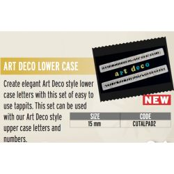 FMM-Art deco lower case