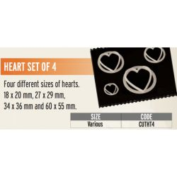 FMM-Heart Cutters(set of 4)
