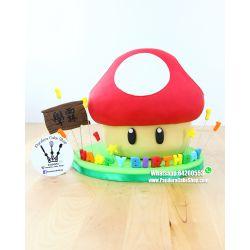 一層蘑菇蛋糕