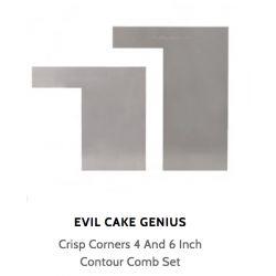 "Crisp Corners 4"" &6"" Contour Comb Set"