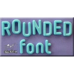 Rounded Font (Full Set) - Alphabet Moulds