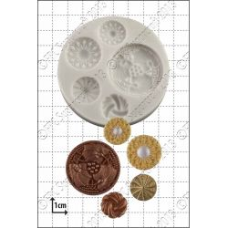Vintage Buttons Silicone Mould - FPC