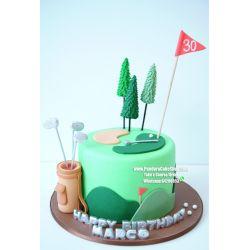 一層哥爾夫球蛋糕