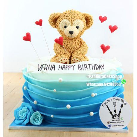 一層熊仔蛋糕