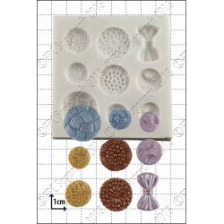 Antique Buttons Silicone Mould - FPC