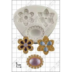 Three Brooches Silicone Mould - FPC