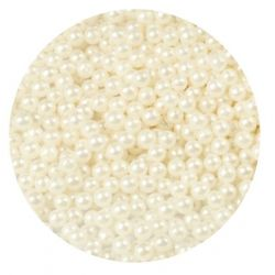 White 4mm Edible Pearls Dragees -1kg