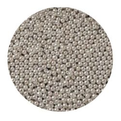 Silver 4mm Edible Pearls Dragees - 120g