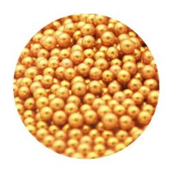 Gold 4mm Edible Pearls Dragees - 120g