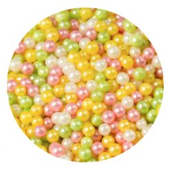 Rainbow 2mm Edible Pearls Dragees - 120g