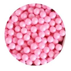 Pink 7mm Edible Pearls Dragees -120g