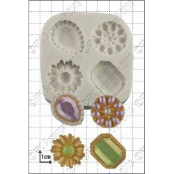 Jewelled Brooches Silicone Mould - FPC
