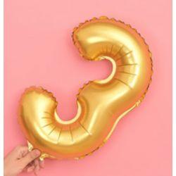 氣球-3字(金色)