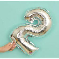 氣球-2字(銀色)