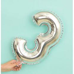 氣球-3字(銀色)