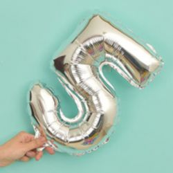 氣球-5字(銀色)