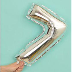 氣球-7字(銀色)