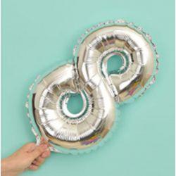 氣球-8字(銀色)