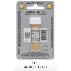 Sugarflair Lustre Dusting Colour - Antique Gold(2g)