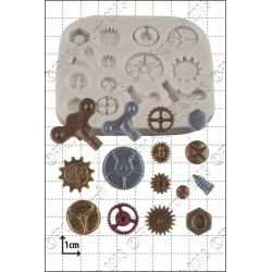 Steam Punk Cogs and Gears Silicone Mould - FPC